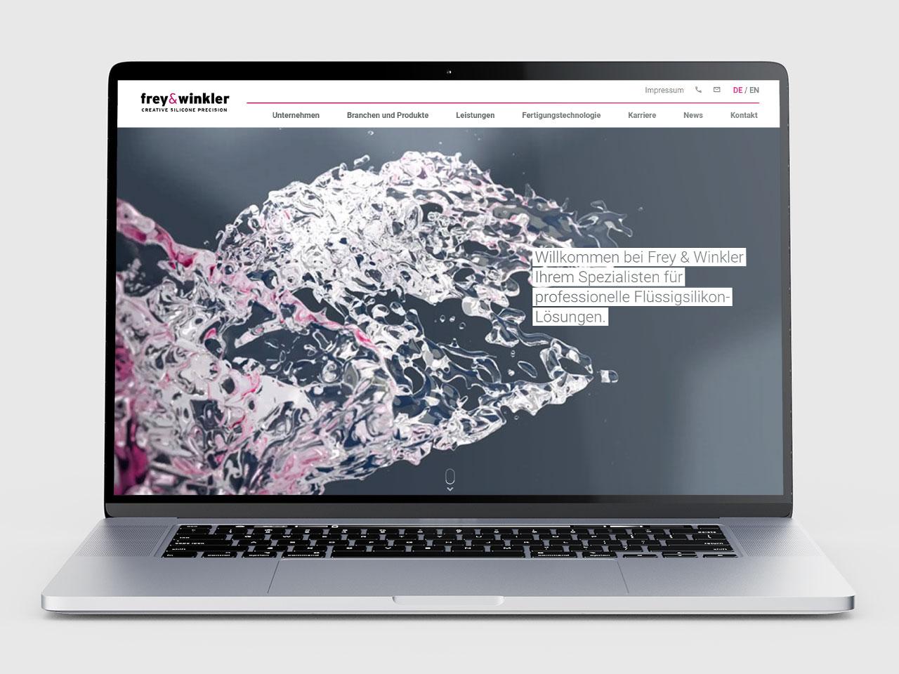 Frey & Winkler realisiert mit flowbridge, Unternehmensberatung und Werbeagentur, seinen neuen Internetauftritt.